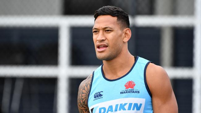 Israel Folau has been widely condemned for his controversial comments.