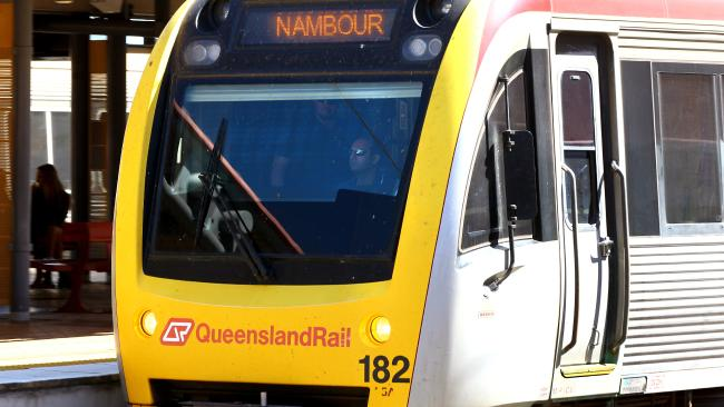 A man has been hit in the face with a train mirror. Picture: David Clark? AAP