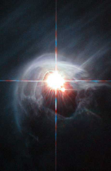 Could the code of life be carried across the cosmos in space dust? One group of researchers believes so. Picture: Hubble