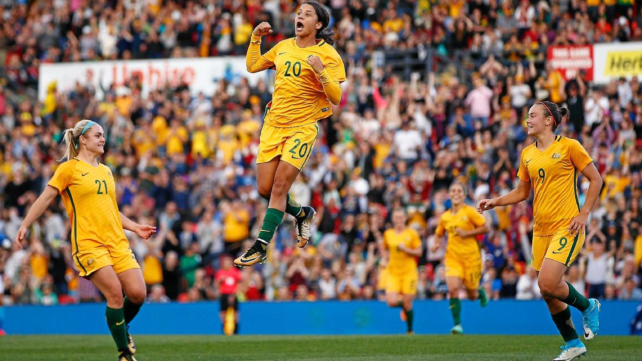 Samantha Kerr will be looking to lead Australia from the front in the Tournament of Nations.