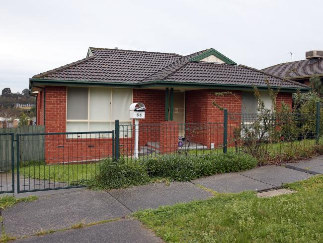 The housing commission home in Endeavour Hills where the family previously lived. Picture: Aaron Francis/The Australian