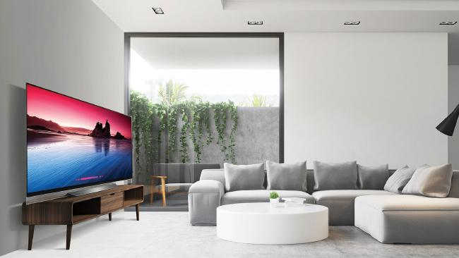 LG's E8 OLED could be the centrepiece for any room.