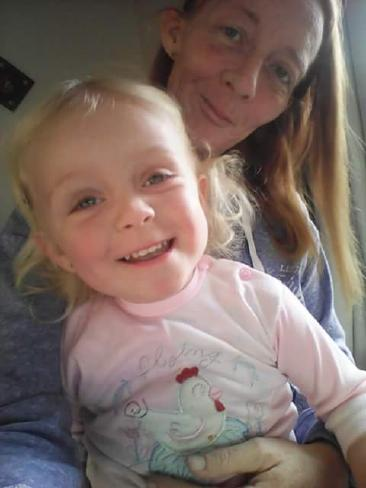 Michelle Whelan with one of her other children, 21-month-old Isabella-Becca. Ms Whelan is a single mother to three.