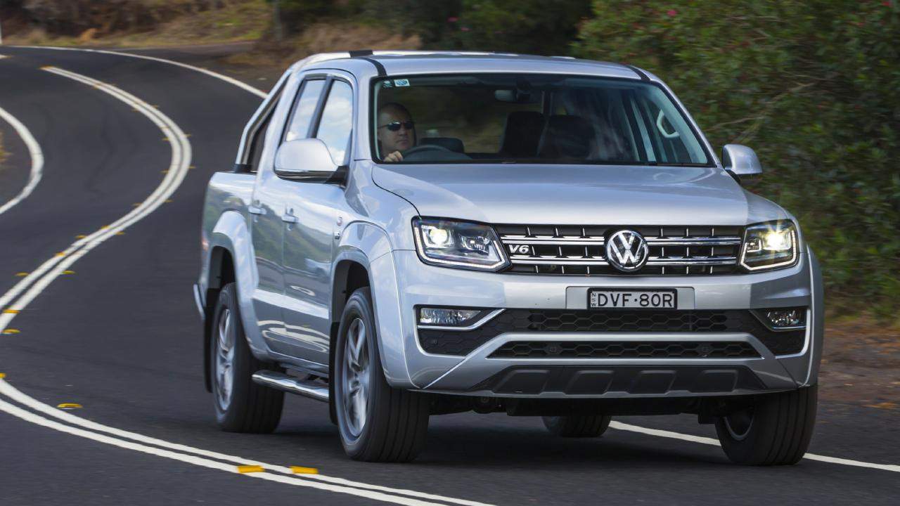 The VW Amarok TDV6 is one of the best utes in the class to drive but it is let down by a lack of modern safety technology. Picture: Mark Bean.
