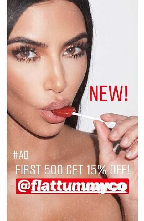 Kim Kardashian's flogging 'Appetite Suppressant Lollipops' on Insta.