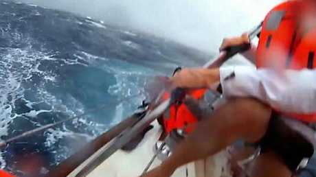 Passengers don life jackets as conditions get dicey. Picture: Channel 4