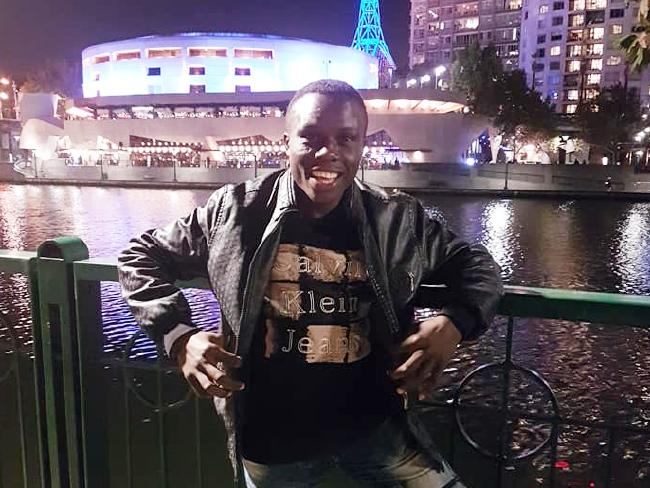 Simplice Fotsala, a 29-year-old boxer from Cameroon who went missing before the end of the Commonwealth Games, poses in Melbourne.