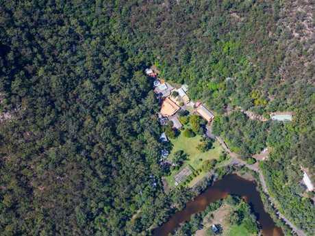 Aerial shot of the enormous site at Mangrove Creek.