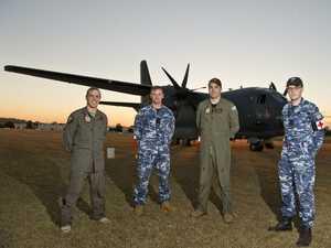 WATCH: RAAF aircraft brings crew home to Toowoomba
