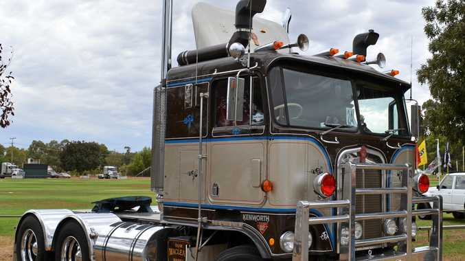WHAT A TRUCK: The MacLean Kenworth on display at Oaklands.