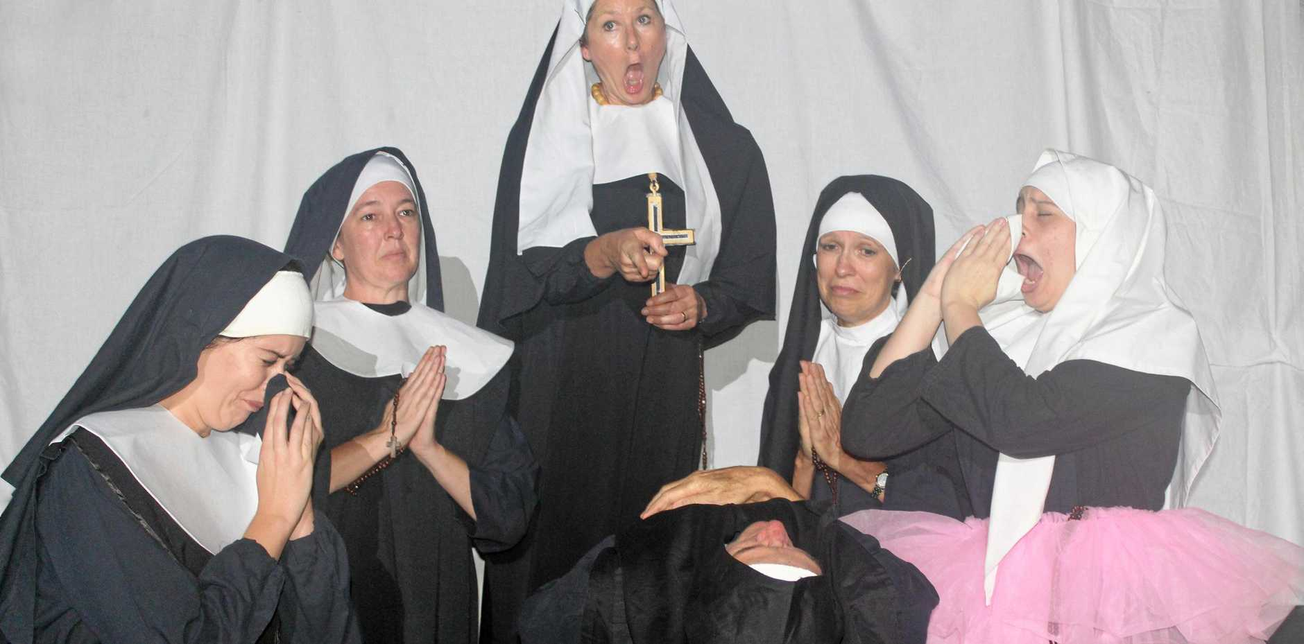 The cast of Nunsense will be treading the boards at the Criterion Theatre this weekend and next.