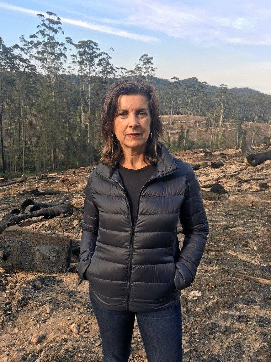 Greens MP Dawn Walker visits Bellingen to call for an end to Native Forest logging.