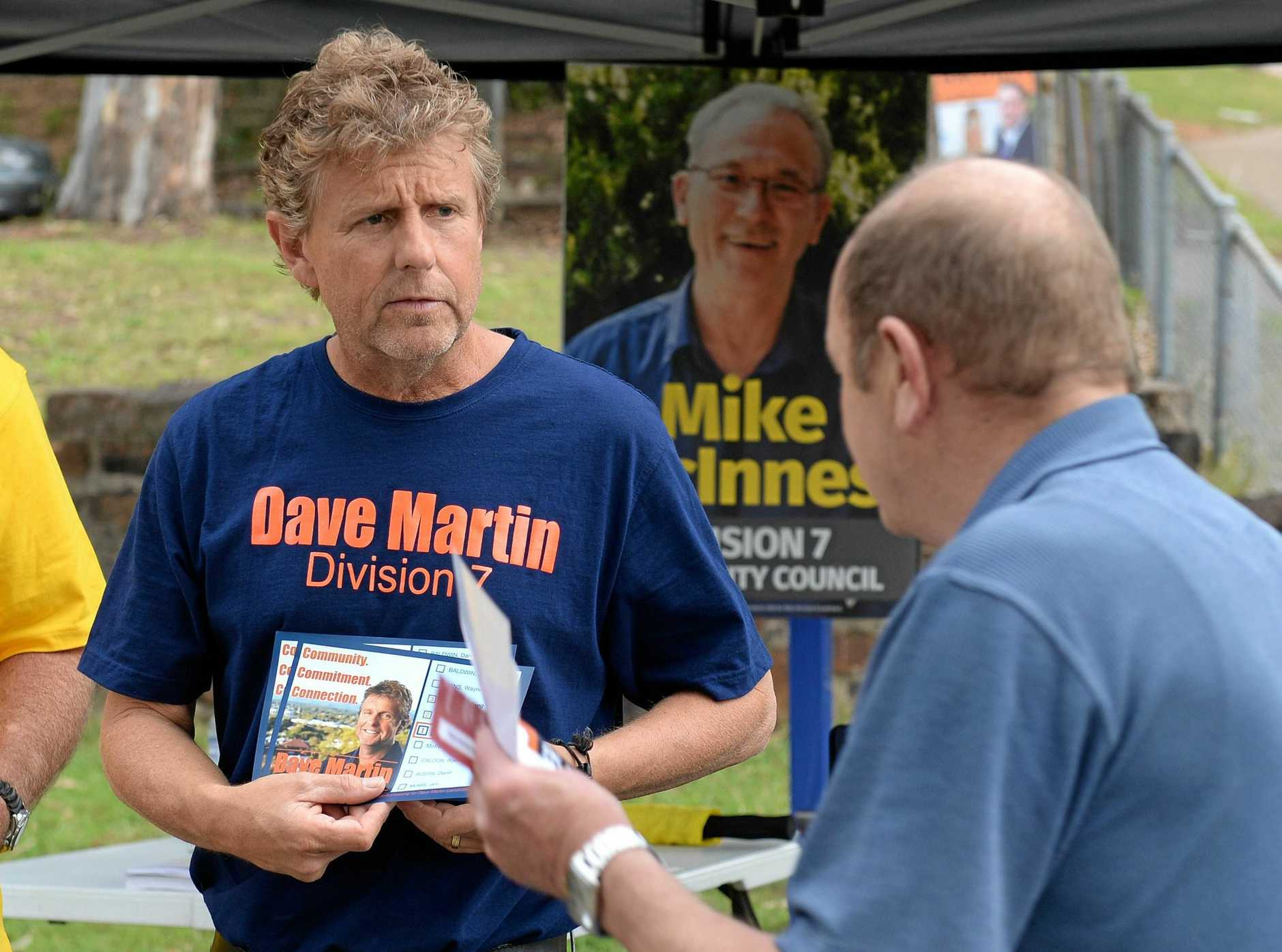Ipswich City Council Division 7 by-election. Successful candidate Dave Martin.