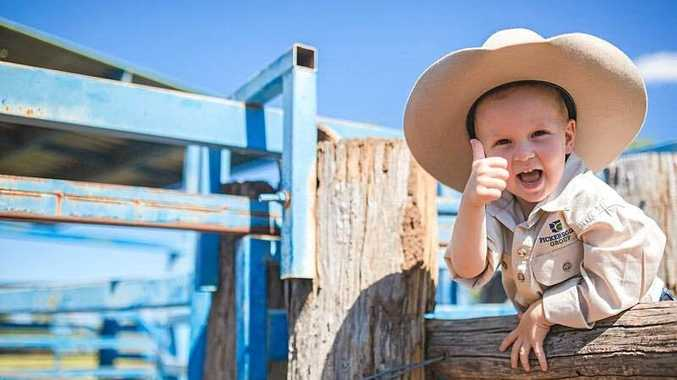 Emma Pickersgill captured this happy go lucky little cowboy chilling in the yards.
