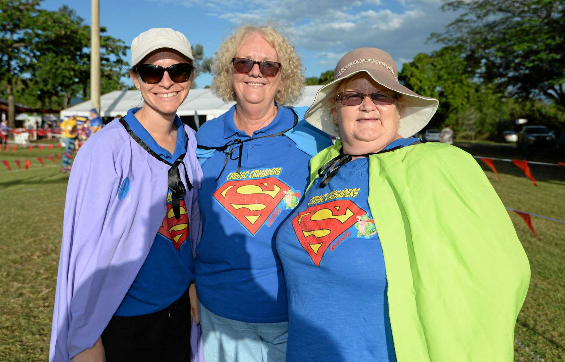 SUPER BID: Lucy Stewart, Julie Layt and Wendy Lauga at the 2017 Rockhampton Relay for Life.