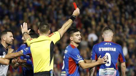 O'Donovan sees red in the A-League Grand Final.