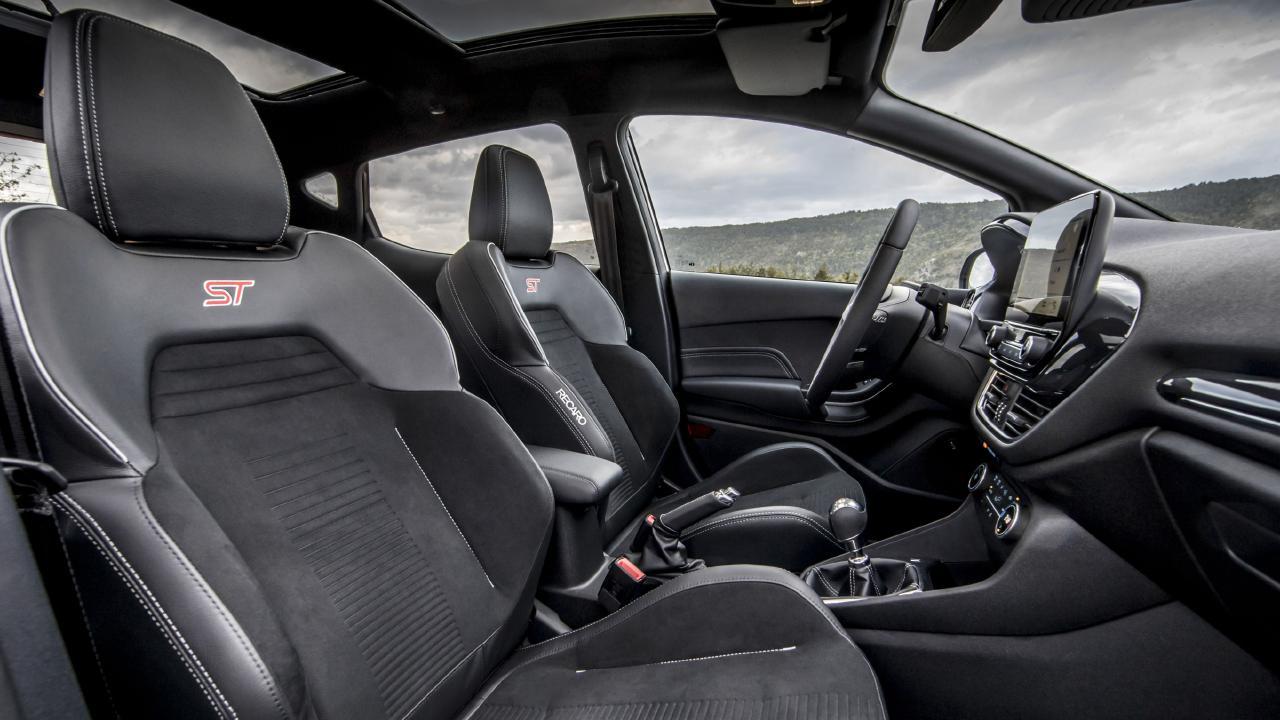 The Recaro driver's seat now has height and tilt adjustment under thigh, which Ford says is a first for the city-car class. Picture: Supplied.