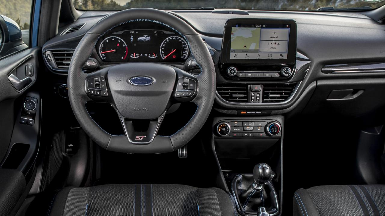 The cabin of the new Ford Fiesta ST finally has a touch of luxury. Picture: Supplied.