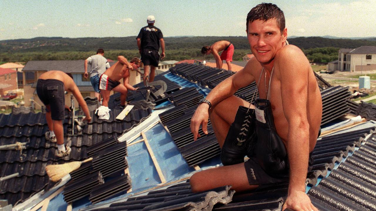Troy Waters took on a job as roof tiler before making a boxing comeback in 1999.
