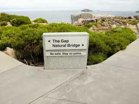 Warnings at The Gap.