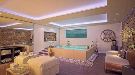 The indoor hot tub is relaxation central. Picture: The Heights