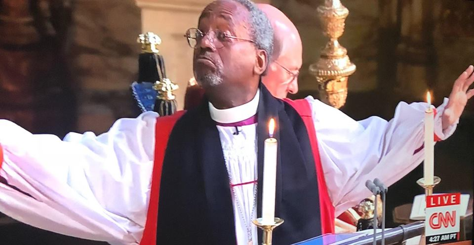Michael Curry Royal Wedding.If You Missed The Royal Wedding You Missed This Guy Daily Mercury