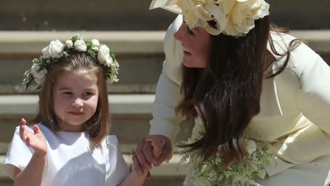 Princess Charlotte and the Duchess of Cambridge. Picture: AFP PHOTO / POOL / Jane Barlow The Royal Wedding