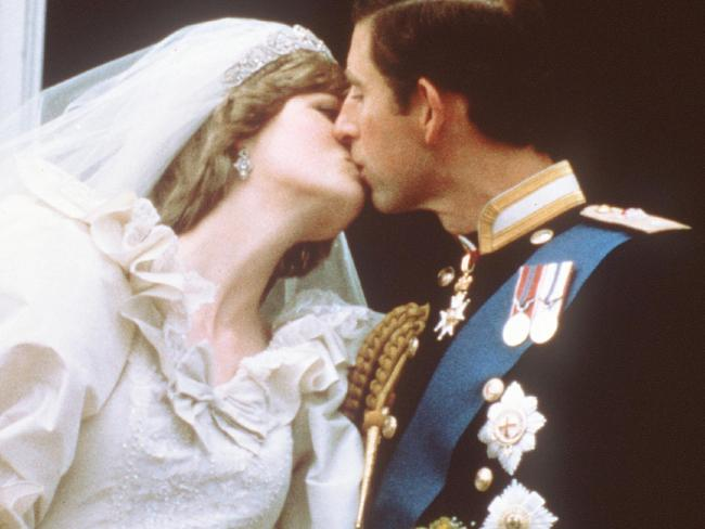 "Princess Diana's dress designer said she was ""horrified"" it got creased as she made her way to the wedding. Picture: AFP/POOL."
