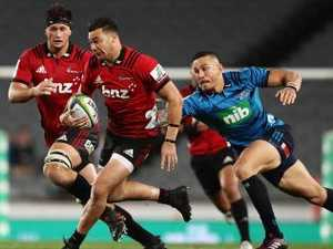 Crusaders beat Blues to go top of Super Rugby