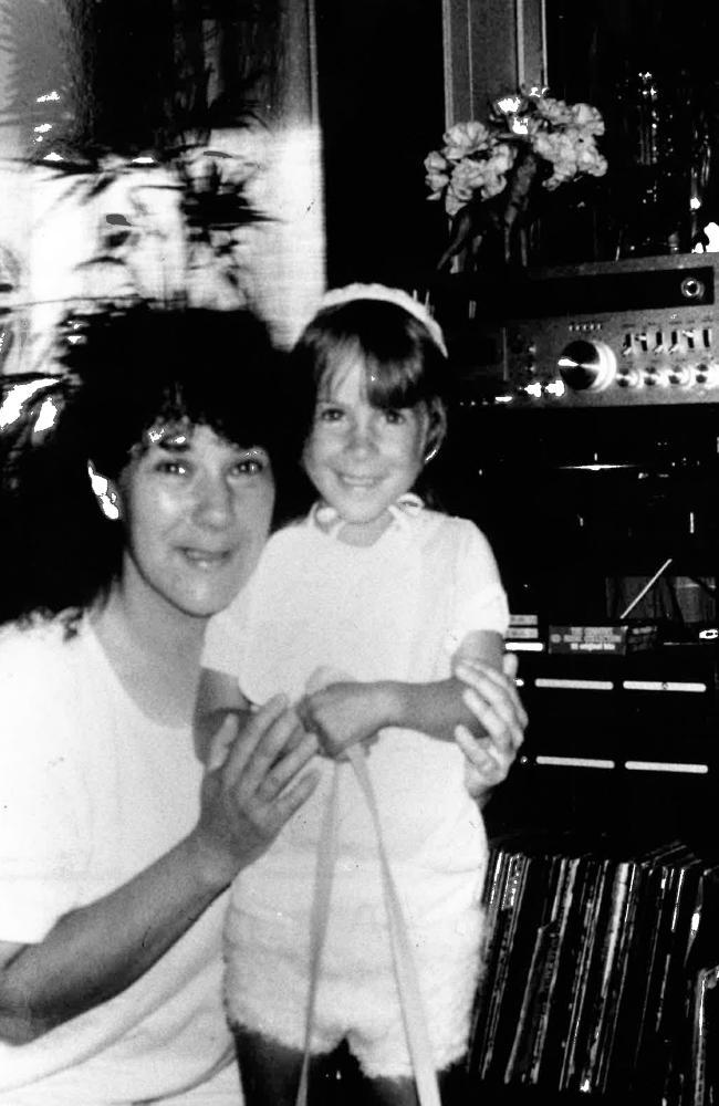 Jurina Hicksonwith her 'wonderful little girl' Lauren before the tragic murder.
