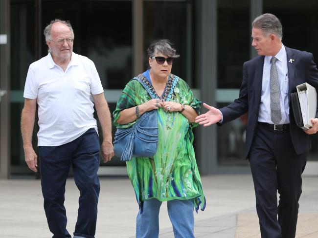 Derek and Jurina Hickson with victims' advocate Howard Brown outside a parole hearing for Towner. Picture: John Grainger
