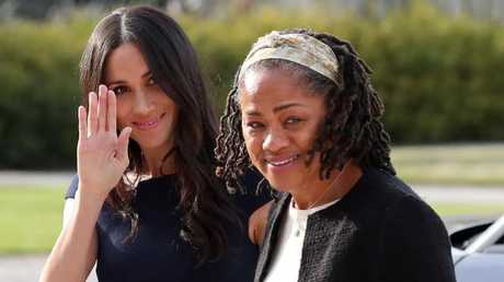 Meghan Markle arrives with her mother Doria Ragland at Cliveden House on the eve of her wedding. Picture: AFP/Steve Parsons