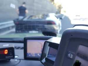 Silence of the Lamborghini: speeding driver fined, suspended
