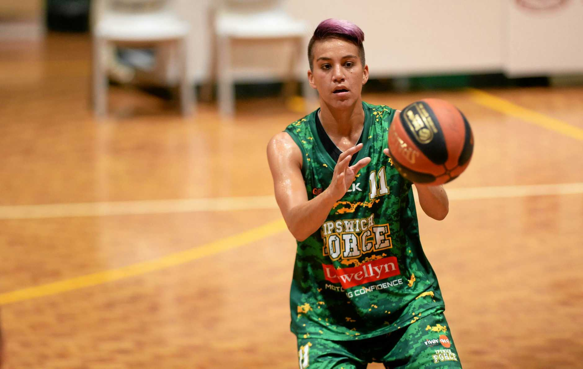 Ipswich Force V Cairns Dolphins women's basketball. Amanda Johnson.