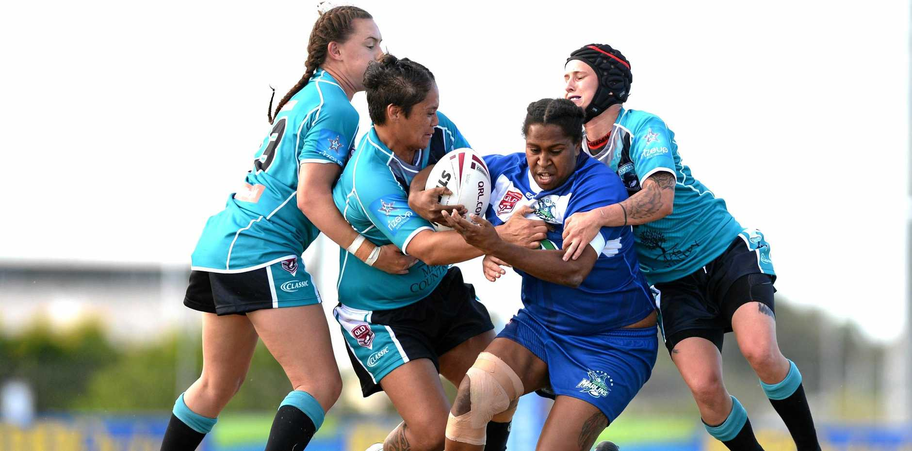 North Queensland Marlins versus the Central Queensland Crows in the women's Queensland Country rugby league Trials at BB Print Stadium, Mackay on Saturday, May 20, 2018.