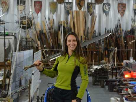 The 35-year-old is the world's top female armourer.