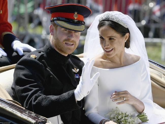 Prince Harry told Meghan Markle she looked amazing when he saw her at the altar. Picture: Picture: Jeff J Mitchell/pool photo via AP.