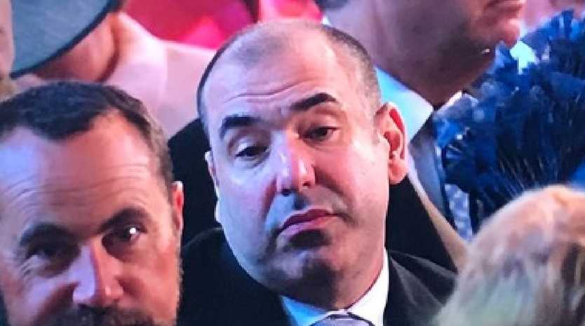 Rick Hoffman became an instant meme after pulling this face. Picture: Twitter