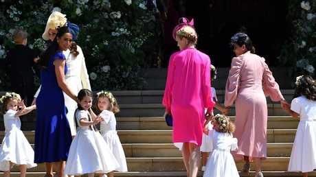 (From left): Princess Charlotte of Cambridge, Catherine, Duchess of Cambridge, Jessica Mulroney, Ivy Mulroney, Florence van Cutsem, Zoe Warren, Zalie Warren, Benita Litt, Remy Litt and Rylan Litt. Picture: Getty