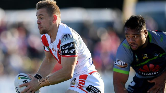 Matt Dufty was superb for the Dragons against the Raiders at Glen Willow Oval in Mudgee.