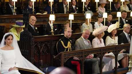 Was the empty seat next to Prince William in memory of Diana? Picture: Jonathan Brady/WPA Pool/Getty Images