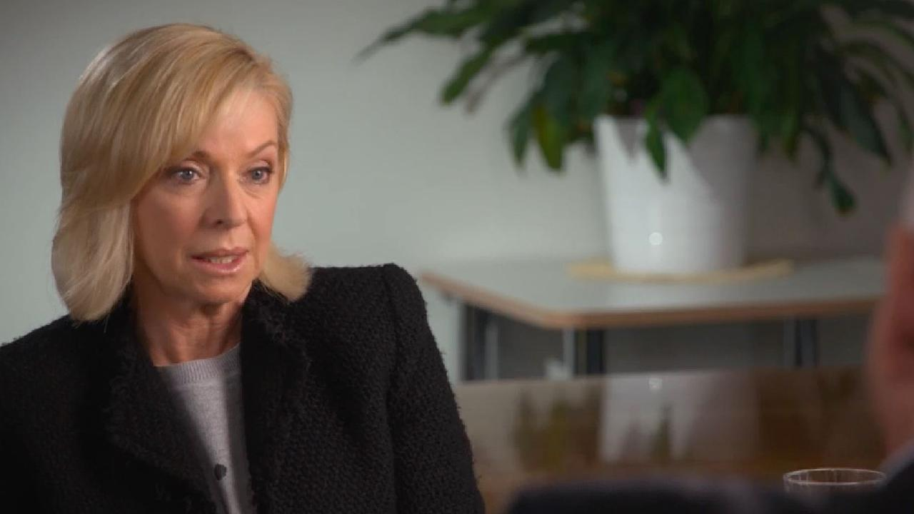 Liz Hayes grills the bank bosses. Picture: 60 Minutes
