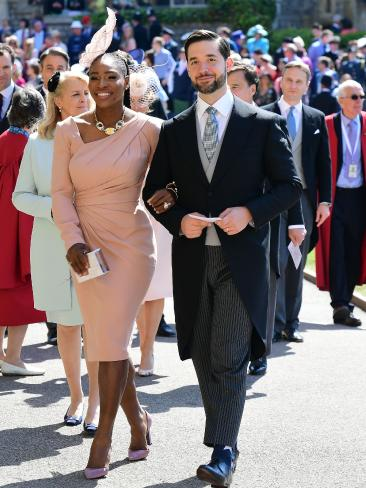 Serena Williams before the royal wedding...  Picture: AFP