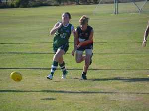 U15 action from Gladstone Mudcrabs v BITS Saints
