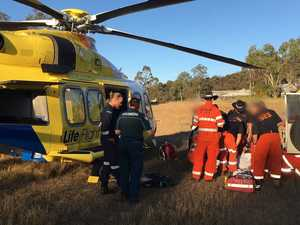 Two airlifted from bike crashes
