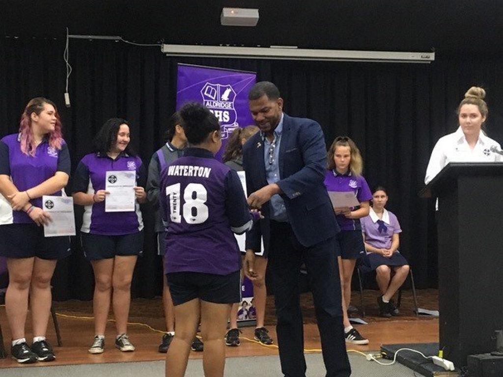 Girls Academy launch at Aldridge State High School.