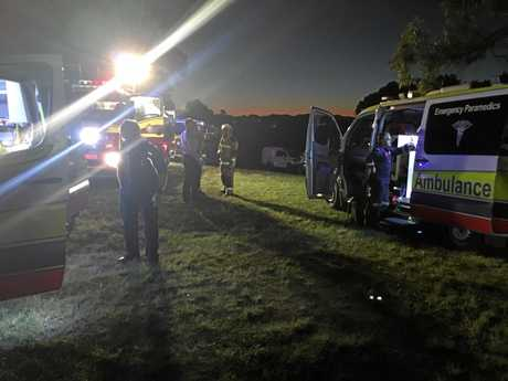 Paramedics and the RACQ Lifeflight rescue helicopter were called to a Tuchekoi property after a petrol vapour explosion on Sunday.