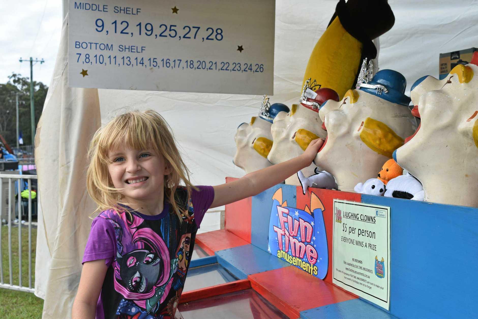 FAMILY FUN: Dasha Ryan enjoying herself at last year's Captain Cook 1770 Festival.