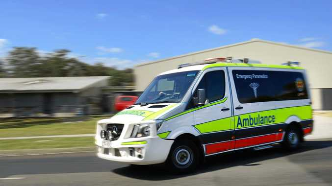 Emergency services have rushed to the scene of a pedestrian and truck incident on the Warrego Hwy.