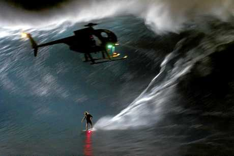 A night ride that Mark Visser completed at Jaws. Photo contributed